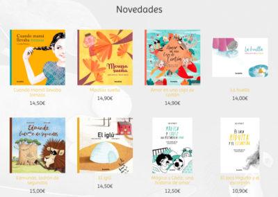 web para venta libros Diseño paginas web