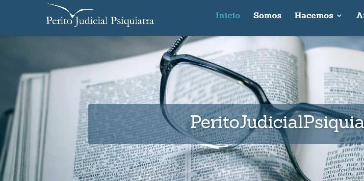Diseño de página web para psicólogo servicio de peritaje Perito Judicial Psiquiatra