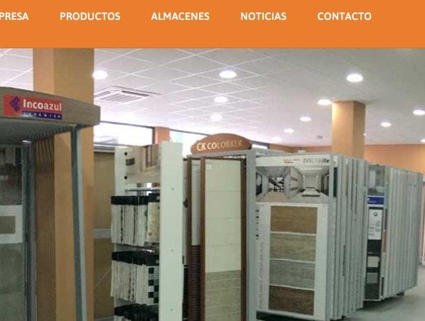 Diseño de pagina web para empresa de venta de materiales de construcción en Madrid