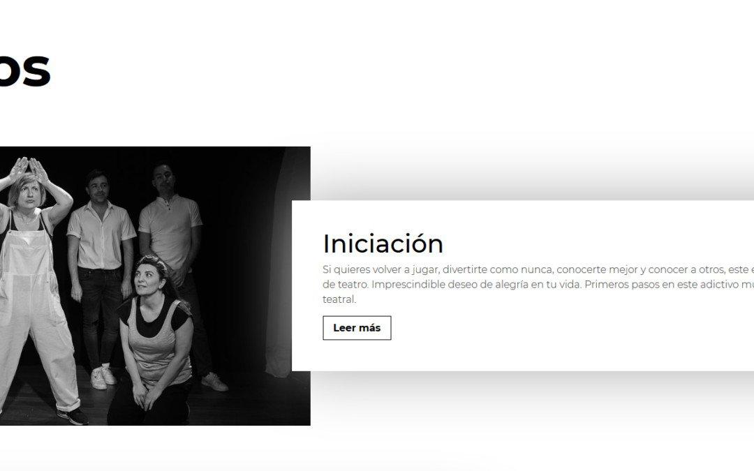 Diseño pagina web para escuela de teatro en Madrid