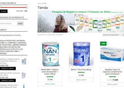 web tienda online farmacia