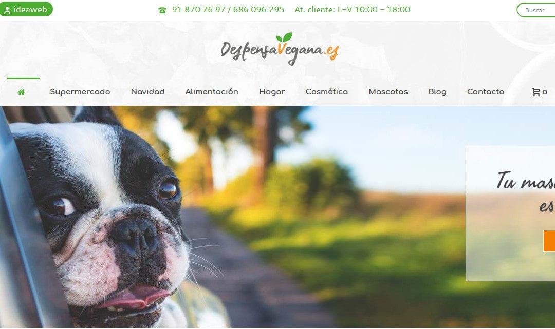 Rediseño web de tienda online. Diseño de tienda vegana de alimentación.