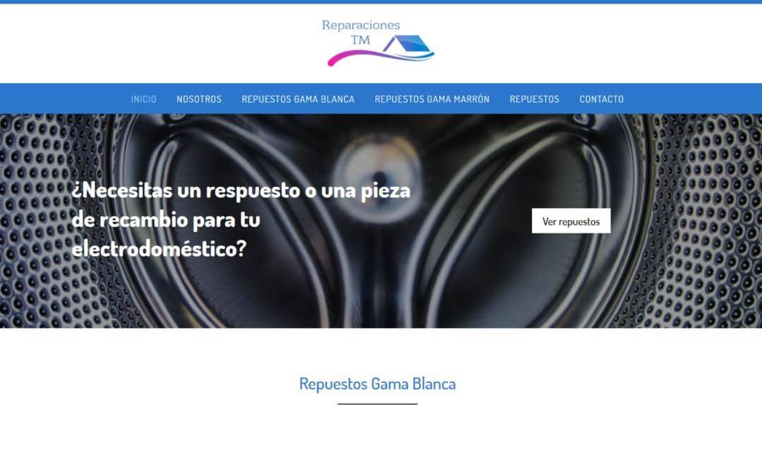 Diseño web para empresa de repuestos electrodomésticos y electrónicos