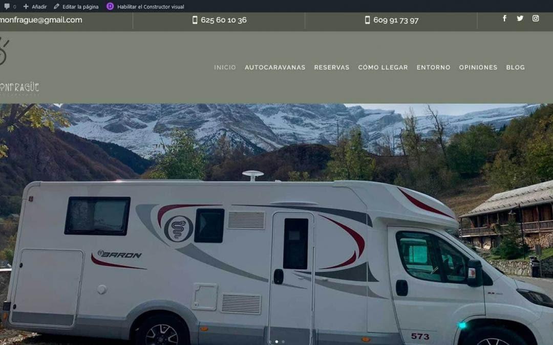 Diseño de pagina web para empresa de alquiler de auto caravanas