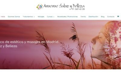 Diseño de tienda online para centro de estética, tienda de cosméticos y venta de productos de belleza