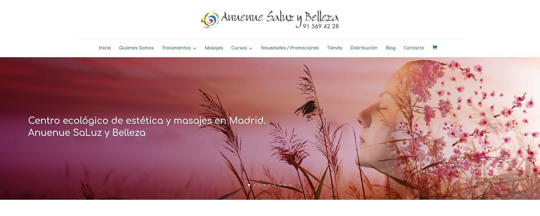 web anuenue estetica masajes Diseño paginas web