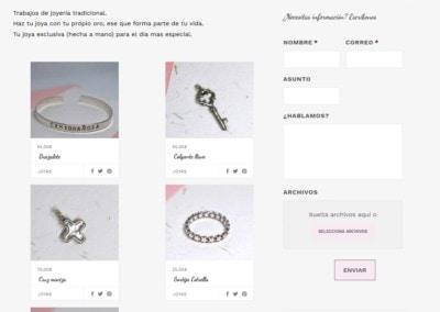web articulos joyeria madrid Diseño paginas web