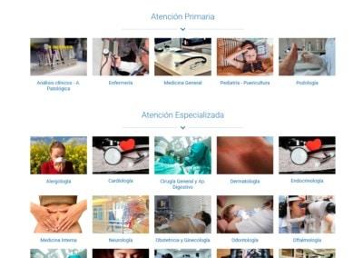 Web Atencion Primaria Especialidades Madrid