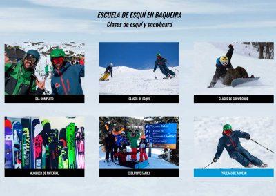 Web Baqueira Esqui Snowboard
