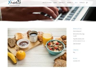 Web Blog Salud Disenadores