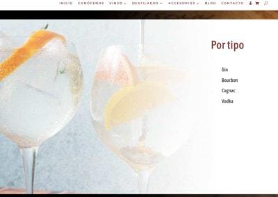 Web Bodega Destilados Madrid