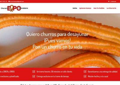 web churreria vallecas madrid Diseño paginas web
