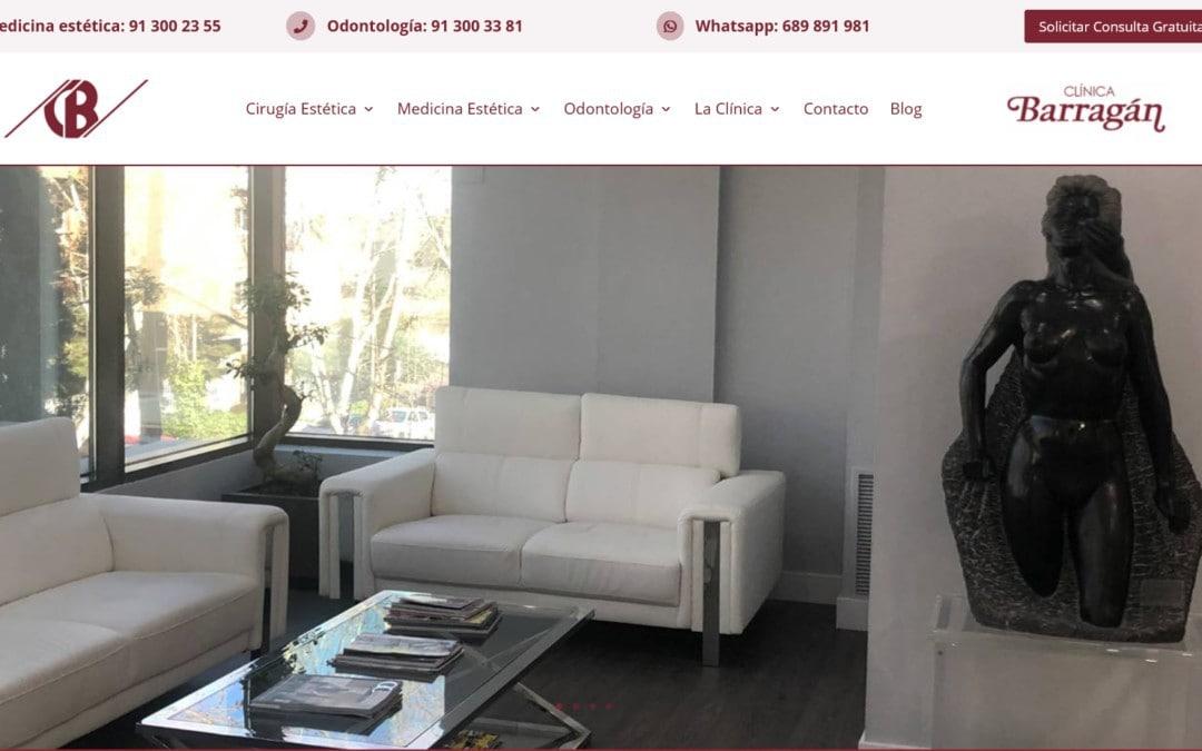 Diseño de página web para clínica cirugía y medicina estética en Madrid