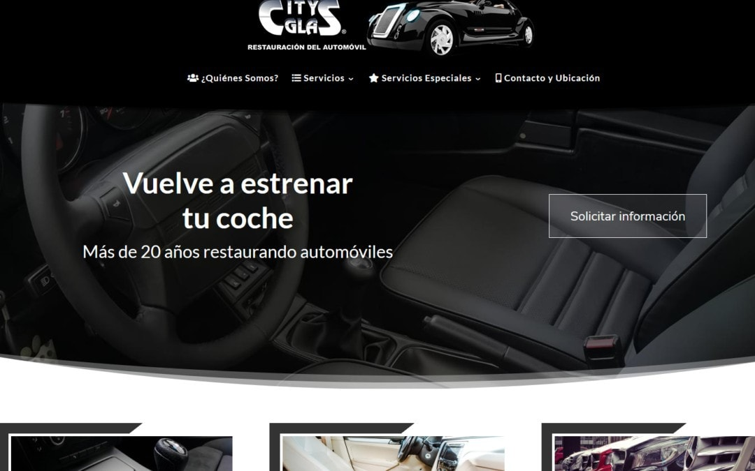 Diseño de web para empresa de reparación y restauración del automóvil