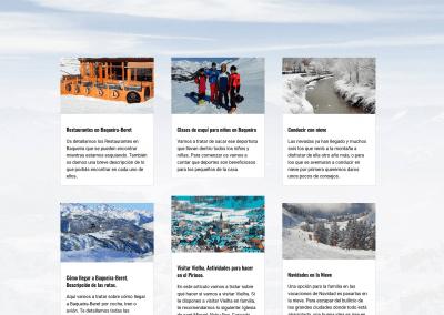 Web Clases Esqui Snowboard Diseno