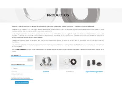 web comercializacion tuercas arandelas Diseño paginas web