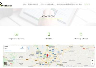 web contacto aislamiento humedades madrid Diseño paginas web