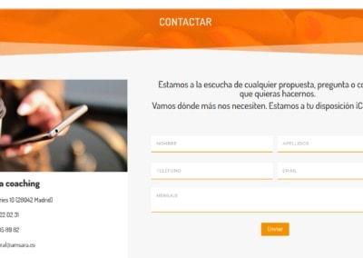 web contacto coaching madird