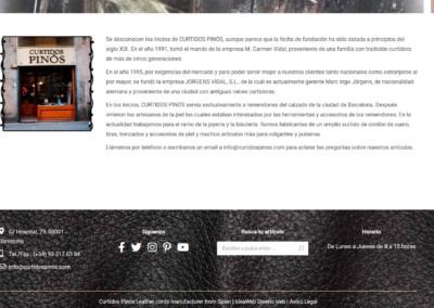 web cordones cuero disenadores Diseño paginas web