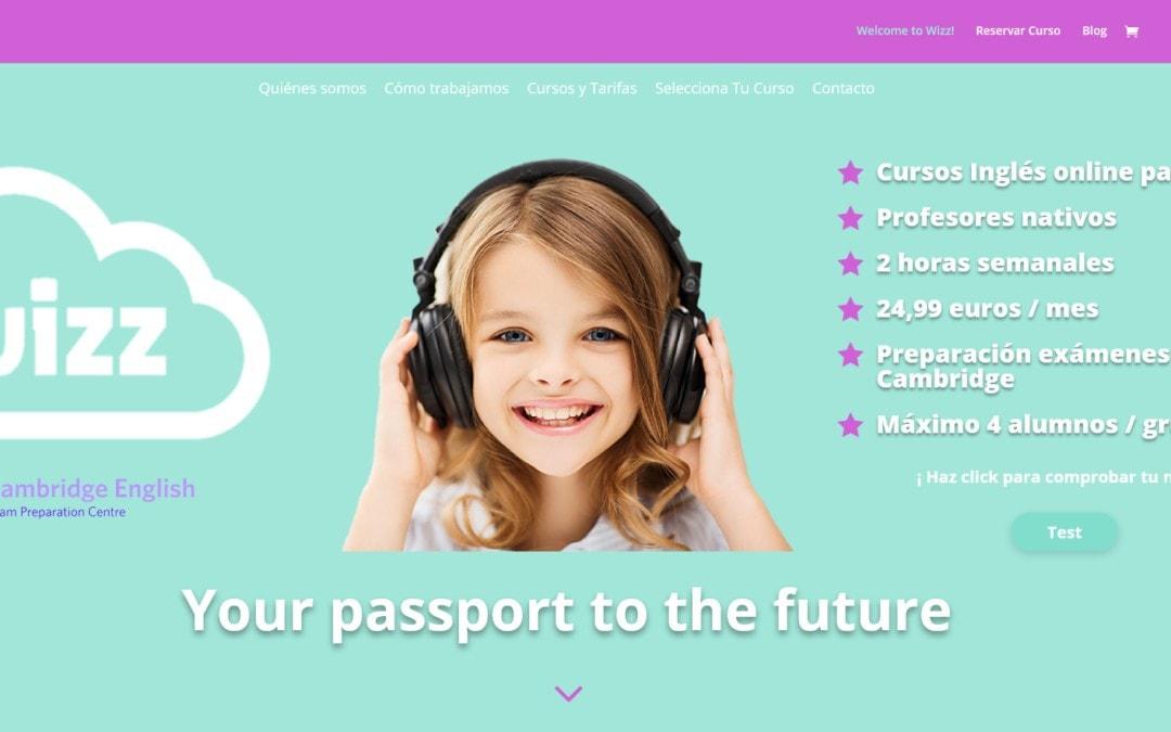 Diseño pagina web para venta online de cursos de Inglés a distancia