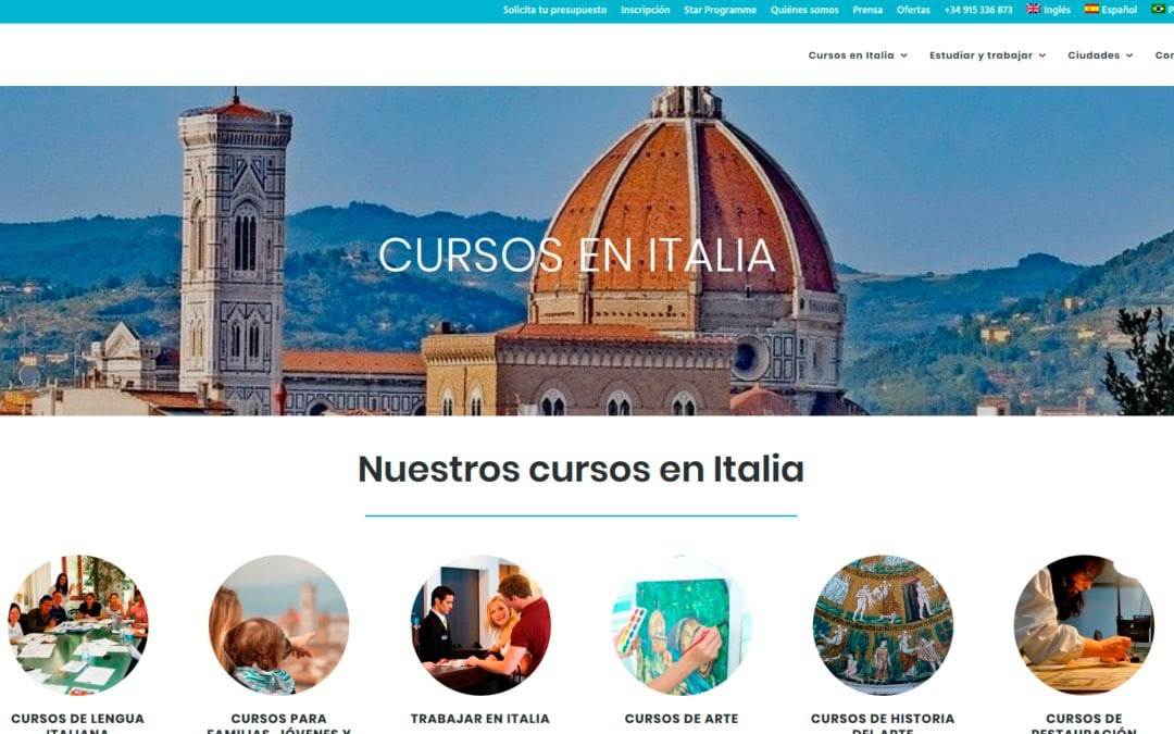 Diseño de página web para empresa de formación