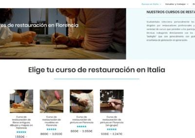 web cursos talleres italia Diseño paginas web
