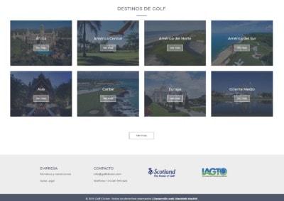 Web Destinos Golf Personalizados