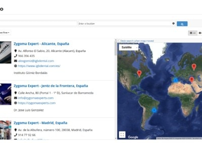 Web Directorio Centros Zygoma