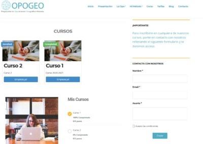 web diseno academia oposiciones online Diseño paginas web