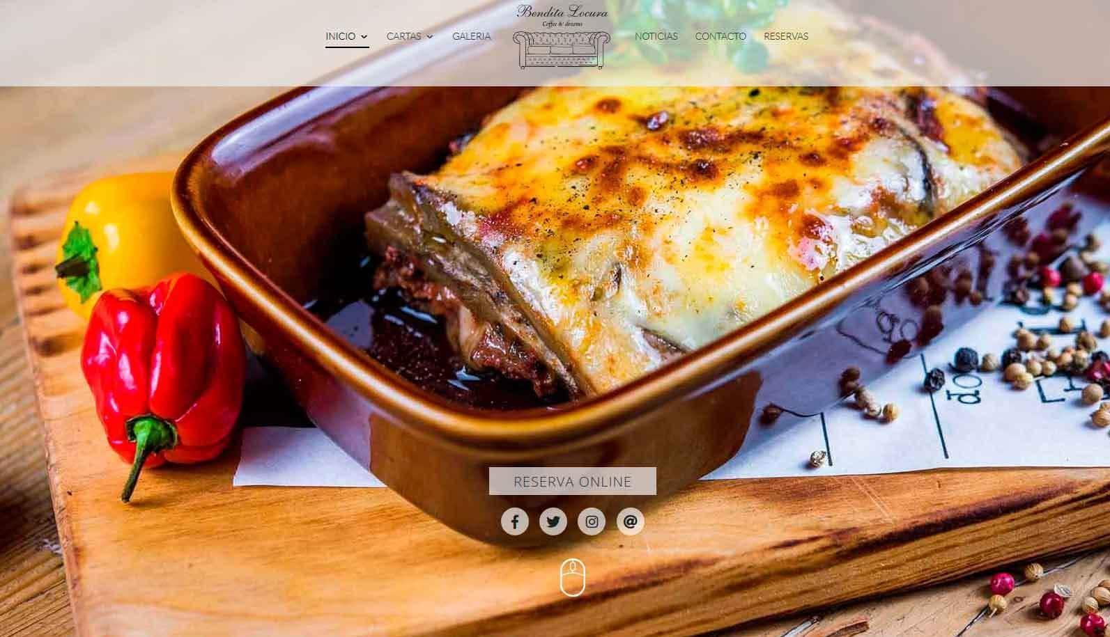 web diseno cafe restaurante madrid