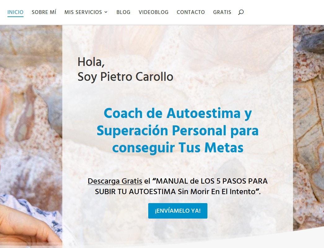 web diseno coaching autoestima