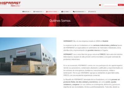 web empresa suministro distribucion productos industriales Diseño paginas web