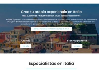 web experiencias italia cursos Diseño paginas web