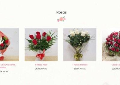 web flores plantas complementos diseno Diseño paginas web