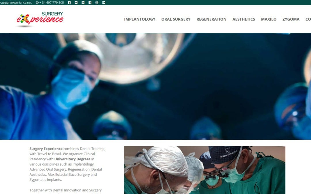Diseño pagina web para formación sanitaria clínicas y profesionales