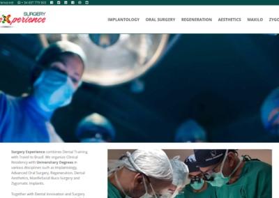 web formacion training dentist implantology page Diseño paginas web