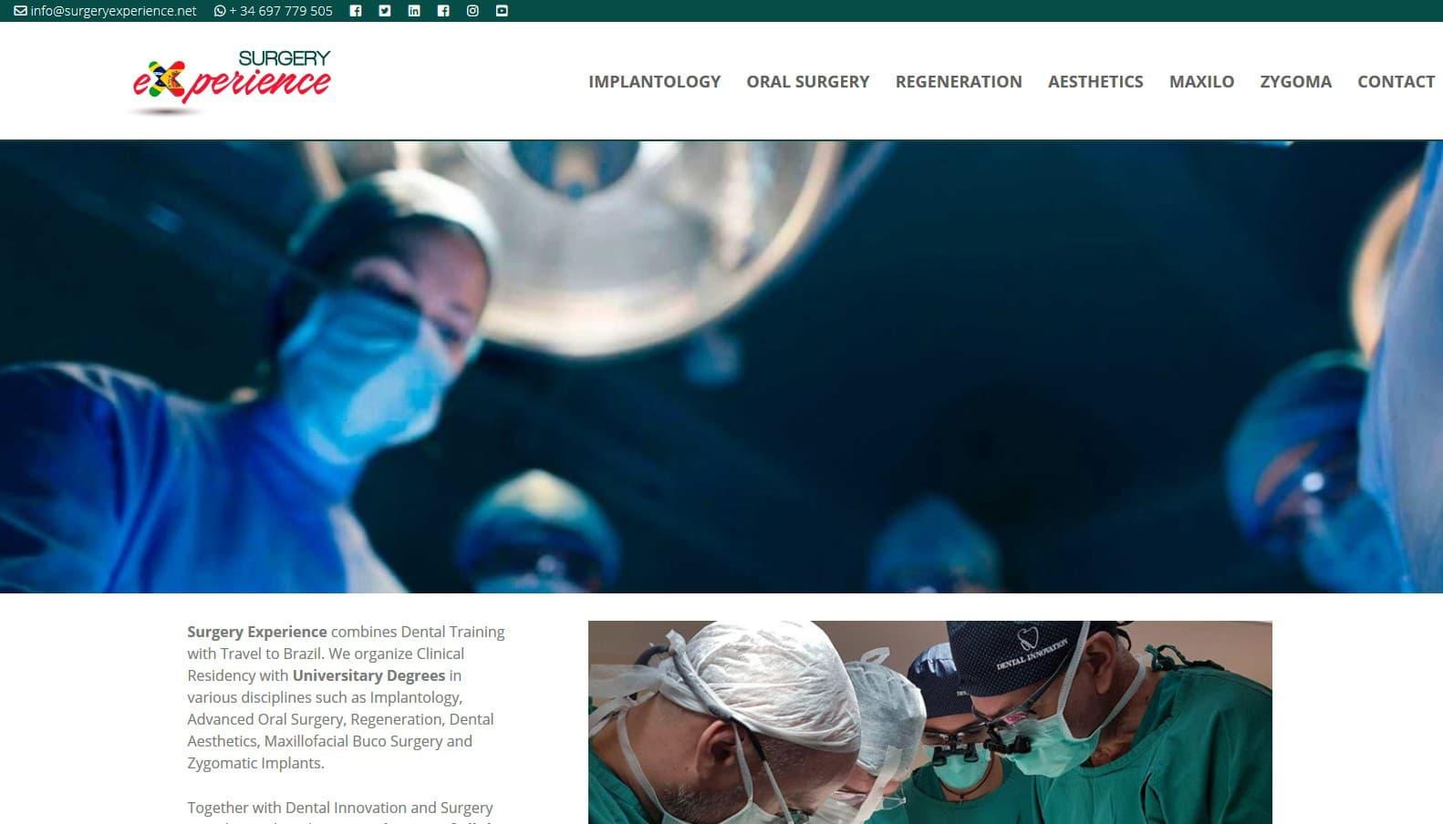 web formacion training dentist implantology page