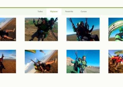 web madrid cursos  actividades parapente Diseño paginas web