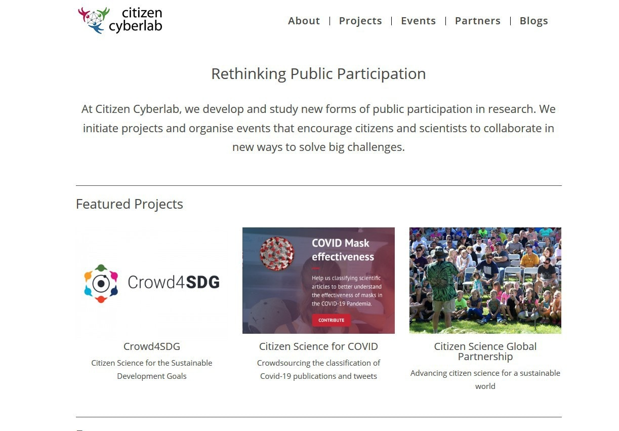 web madrid projects science