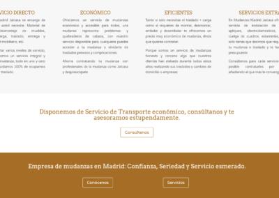 web mudanzas montaje muebles Diseño paginas web