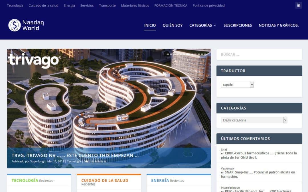 Diseño de pagina web para blog de economía, inversiones y bolsa. Diseño de blog de empresa o personal a medida.