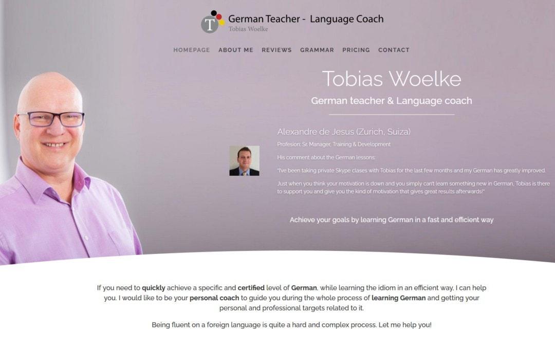 Diseño pagina web para profesor formación en idiomas