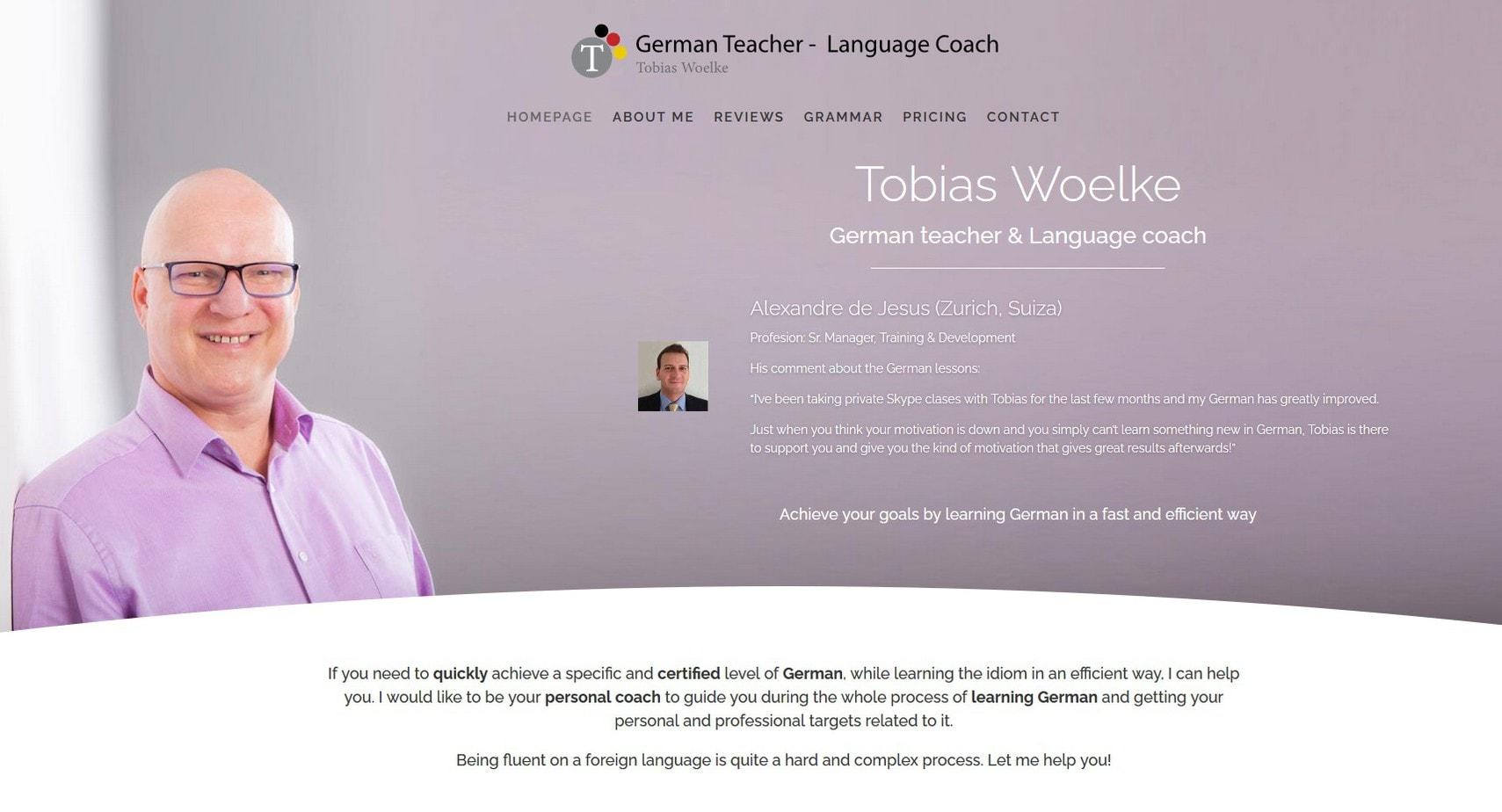web page german teacher