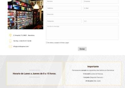 web pagina cordones trenzados Diseño paginas web