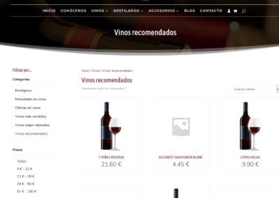 Web Pagina Destilados Licores