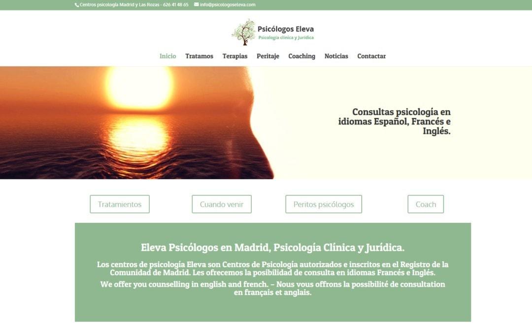 Diseño pagina web para centros de Psicología y psicólogos en Madrid.