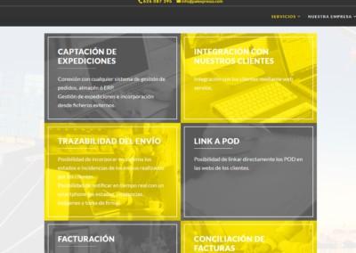 web palexpresso servicio transporte