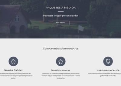 Web Paquetes Golf Diseno