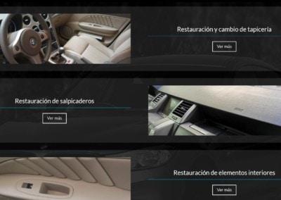 Web Restauracion Salpicaderos Pilotos Volante Llantas Lunas