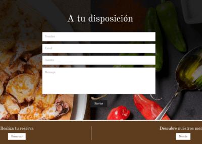 Web Restaurante Reservas Madrid